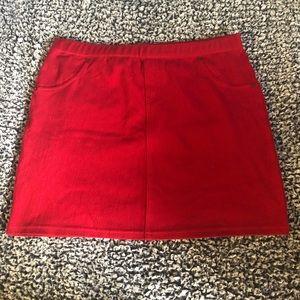 HUE red skirt